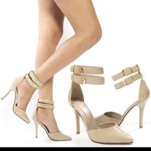  BUNDLED!!  NIB Nude Patent Ankle Strap Pump~9