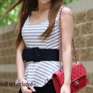 Tops - Stripe peplum top
