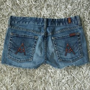 7 for all Mankind Denim A-Pocket Shorts 27