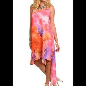 Dresses & Skirts - Beautiful Magenta, Orange watercolor dress