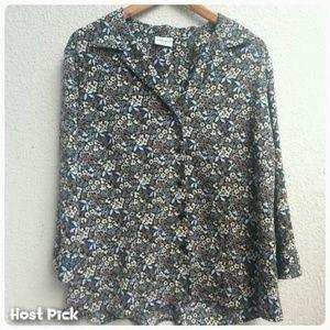 Covington Tops - 🎈 Mini Flower Print Blouse