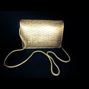 HOST PICKVTG GOLD EVENING BAG