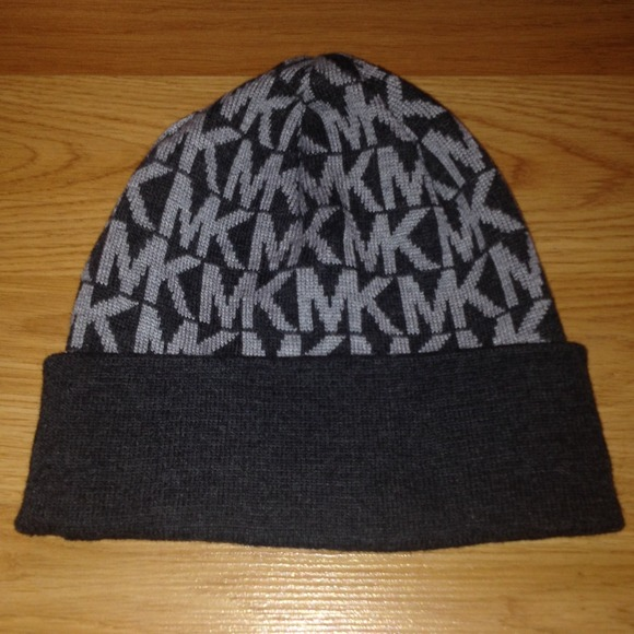 8596908b7d2 Michael Kors Beanie Hat in light dark gray