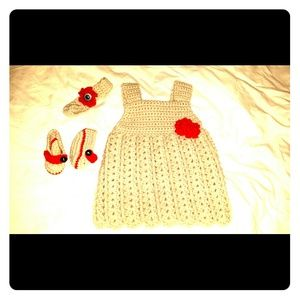 Dresses & Skirts - Handmade crochet dress w/ accessories