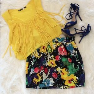 Forever 21 Dresses & Skirts - Floral Bubble Mini Skirt