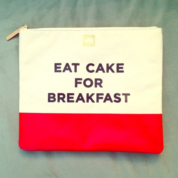 kate spade Handbags - Kate Spade 'Eat Cake for Breakfast' Pouch