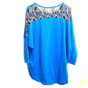 - teal hi lo blouse -