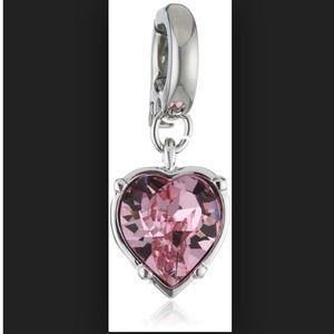 Swarovski Pink Heart Charm