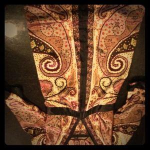 Silk, paisley maternity dress