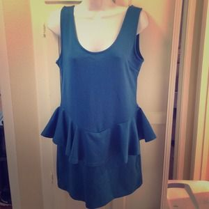 Dresses & Skirts - Teal peplum dress