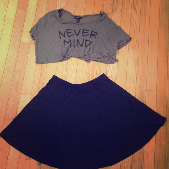 50% off Dresses & Skirts - High waisted flowy skirt with crop top ...