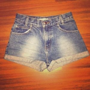 Denim - High waisted jean shorts