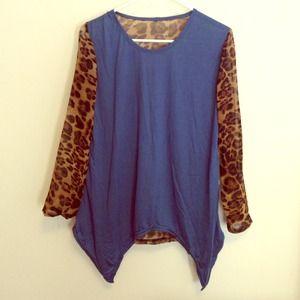 - sheer leopard blouse -