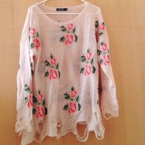 WILDFOX COUTURE look a like prairie rose sweater!!