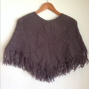 Outerwear - Knit cape freesize