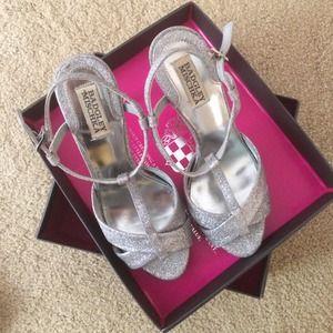 Badgley Mischka Shoes - Badgley Mischka Indigo III Glitter Fabric Platform