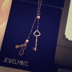 Jewelmint Lock and Key Necklace
