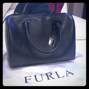 Furla Handbags - Furla D-Light Satchel in Black