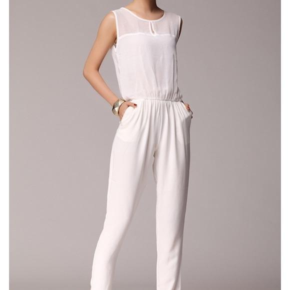 92ab09d66b5b Off white jumpsuit similar to zara