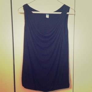 Black maternity nursing tank