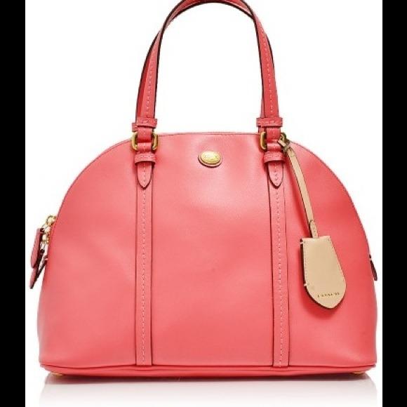 63% off Coach Handbags - Coach Peyton Leather Cora Domed Satchel ...