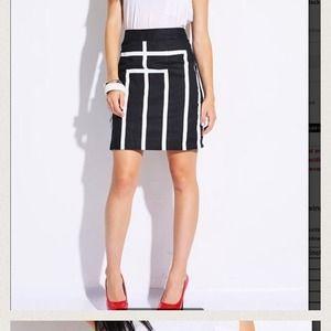Esley Dresses & Skirts - NWT black and white design  pencil skirt