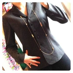 Sophisticated! Charcoal grey blazer!