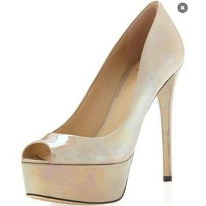 Brian Atwood Bambola nude pearl shoes pumps heels