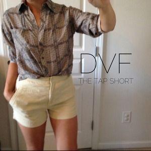 HP• CLASSIC DVF LINEN TAP SHORTS