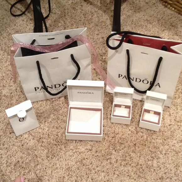 e384ab00e18d Authentic Pandora Bags and bracelet   Charm boxes.  M 53615a8914b1e04ad90d954d