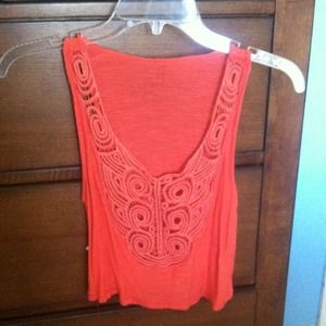 Coral. Small. Crop top