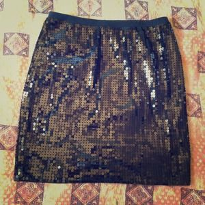 Betsey Johnson Knit Sequin Skirt