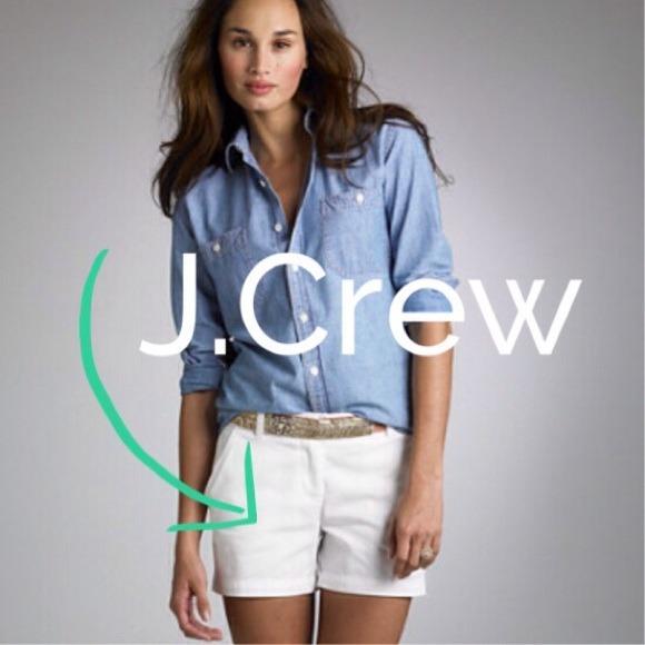 J. Crew - JCREW 2 1/2 inch inseam white chino shorts from ...