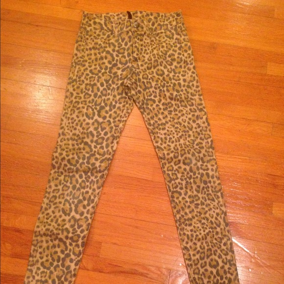 H&m Leopard Skinny Jeans