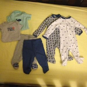 Carter's Other - LOT of Baby Boy clothes with 2 hats