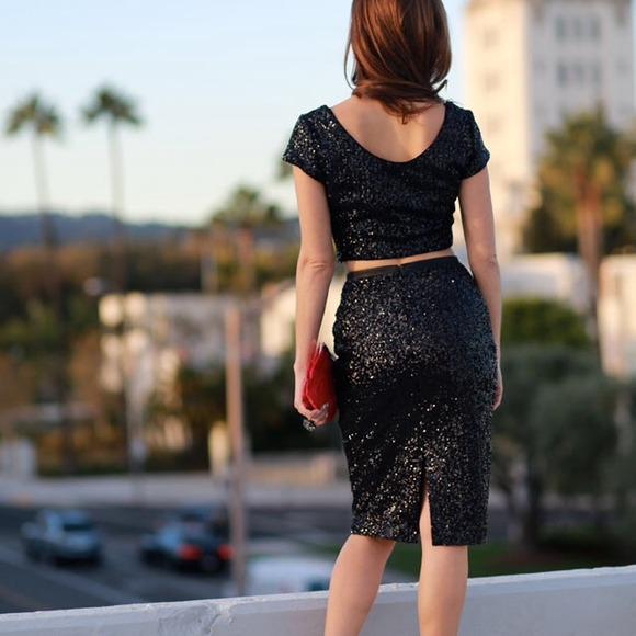 High Waisted Sequin Skirt - Dress Ala