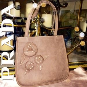 prada leather purses - 86% off Prada Handbags - + SOLD + PRADA Brown Suede Floret Handbag ...