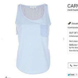 Carven Tops - Carven mesh back tank top