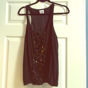 Black sequined JCrew tank