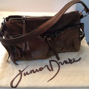 Olive Leather Purse by Junior Drake