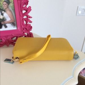Bags - Yellow double zipper wallet 1