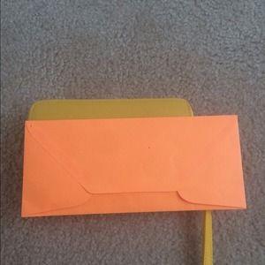 Bags - Yellow double zipper wallet