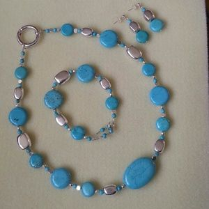 Jewelry - CLEARANCE 💸💰Turquoise & Silver Nuggets Set