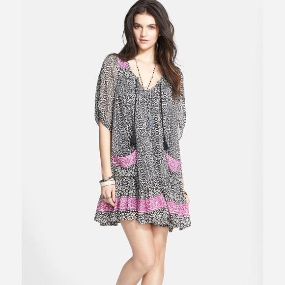 "Free People Dresses & Skirts - 🌴HP🌴 Free People ""Penny Lane Chiffon dress"". NWT"
