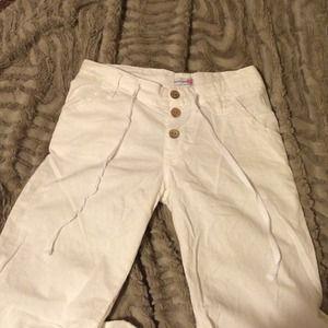 Pants - White cotton / linen flare pants