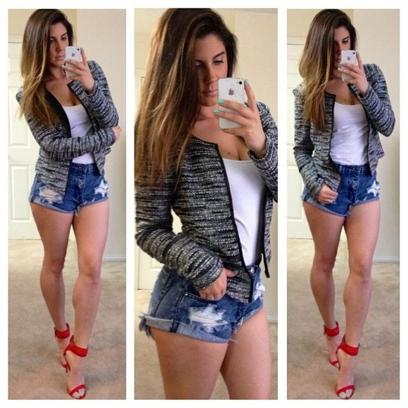 57% off Tobi Denim - Tobi Distressed Denim Shorts from Jocelyn's ...
