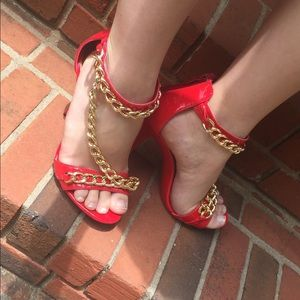 Shoes - Red Glamour Heels