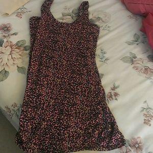 Dresses & Skirts - Leopard pink tank bodycon dress