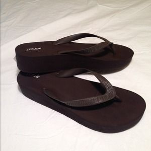 3737ef57b J. Crew Shoes - JCrew Skinny Wedge Flip Flops