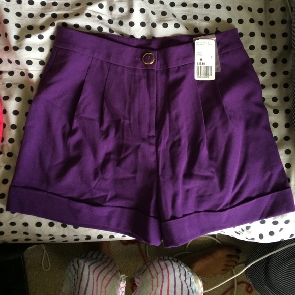 15% off Forever 21 Pants - Forever 21 High Waisted Purple shorts ...